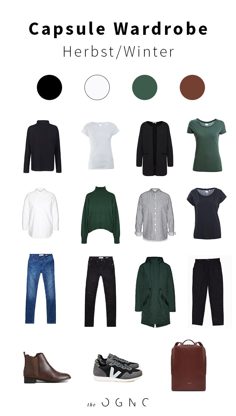 Capsule Wardrobe Inspiration für den Herbst/Winter #autumnwardrobe