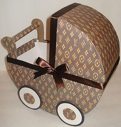 Louis Vuitton Inspired Baby Carriage for baby showers