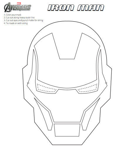 Diy the avengers mask printables fun marvel the avengers for Avengers mask template