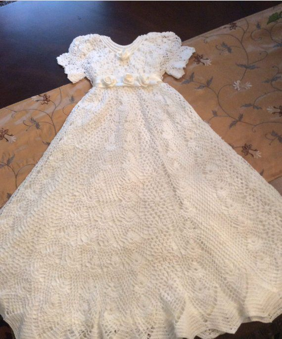 740925fcaeb6 heirloom vintage christening gown crochet pattern, baptism crochet pattern,  blessing pattern, baby g