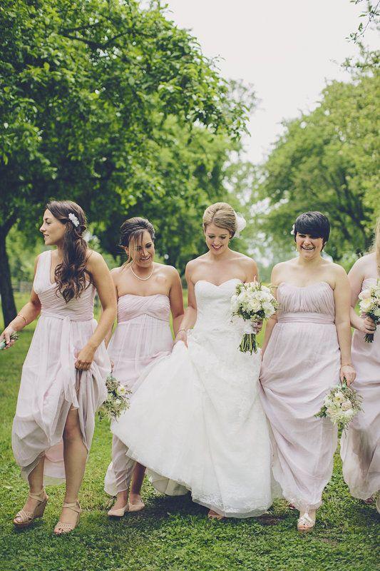 Matt + Laura - Brooke Courtney Photography / white + neutral wedding inspiration / bride / bridesmaids / flowers / bouquet / outdoor portrait / wedding details /