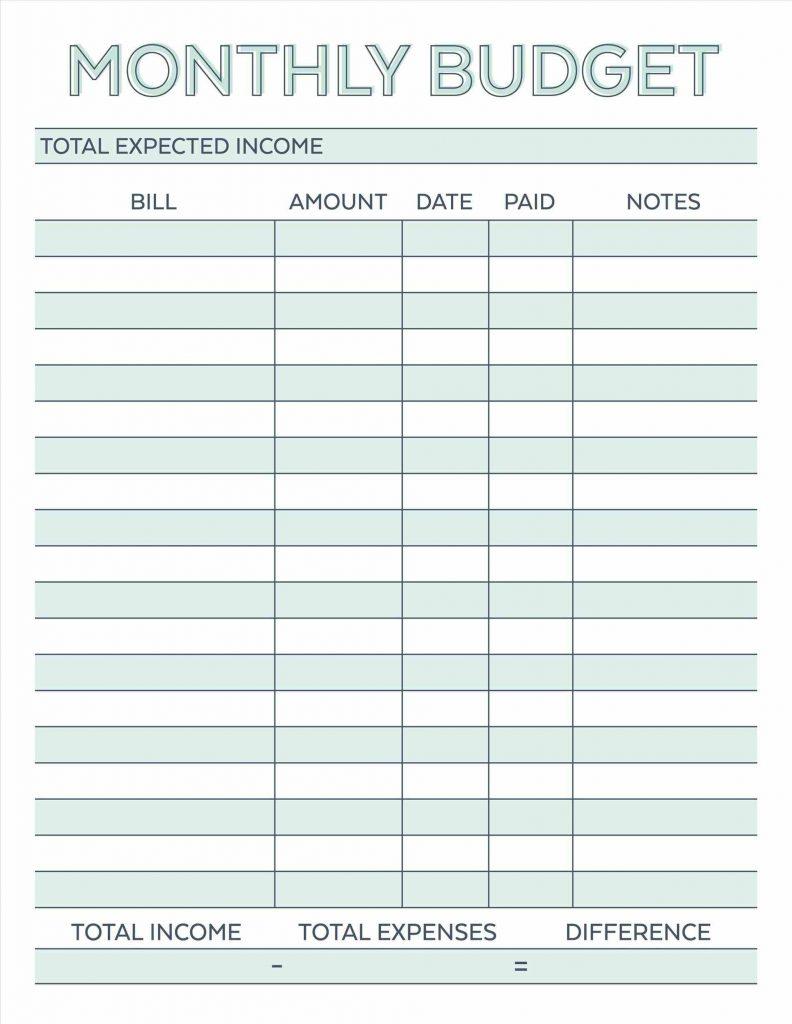 Free Budget Spreadsheet Templates Example Printable