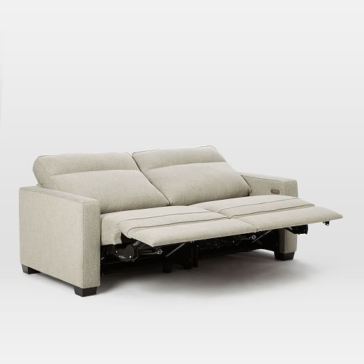Admirable Henry Power Recliner Sofa Gravel Twill West Elm Pabps2019 Chair Design Images Pabps2019Com
