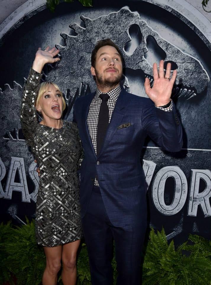 Chris Pratt and Anna Faris - Jurassic World premiere - June 9th 2015