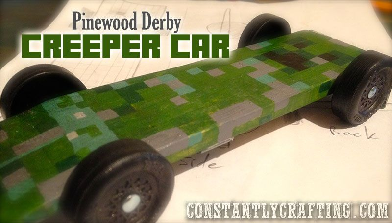 Minecraft Creeper Car u2013 Cub Scout Pinewood Derby Race Car Cub - pinewood derby template
