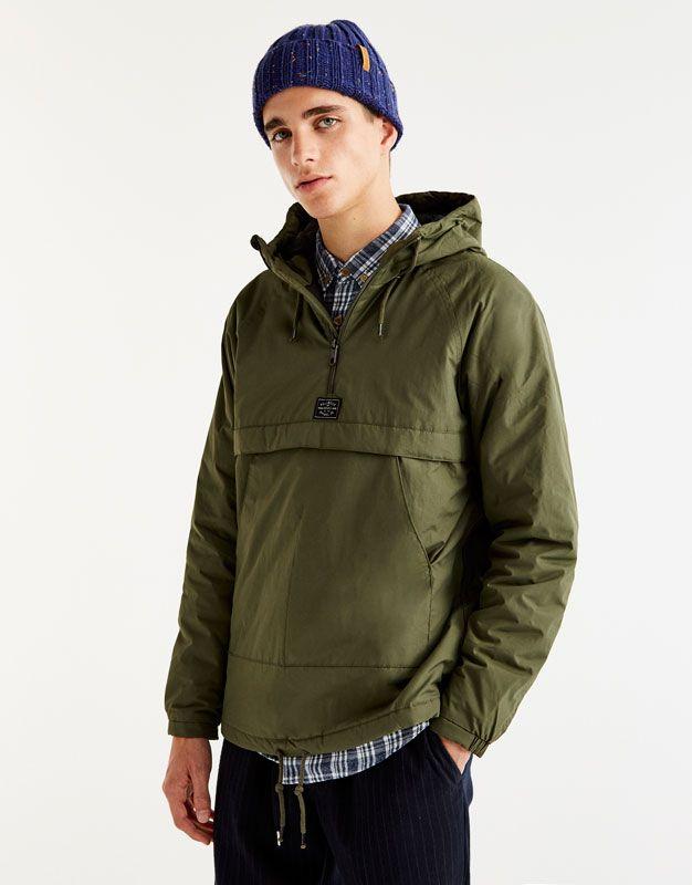 Camisola tipo canguru fina com capuz - Casacos e Blusões - Vestuário - Homem  - PULL BEAR 9788190c6d2