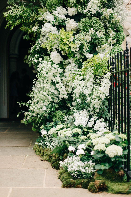 All white church wedding decor Elegant Chiswick House u Gardens Wedding by MuJ Photography