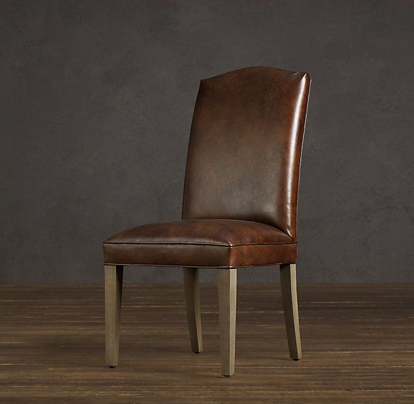 hudson camelback leather side chair - more simple, still elegant