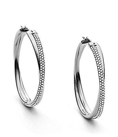 3da3aae39 Michael Kors Brilliance Pave Crossover Hoop Earrings #Dillards | I ...