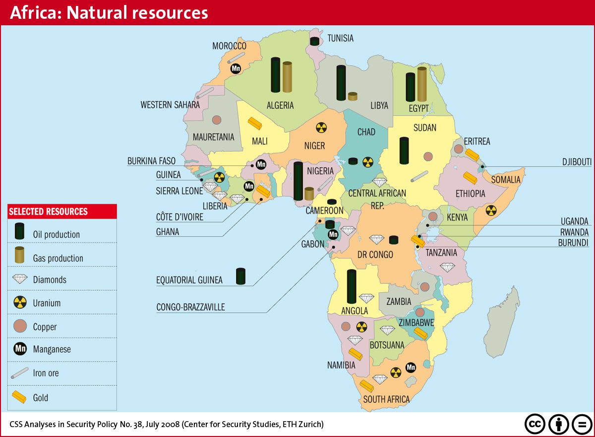 Natural Resources Of Africa Map Africa´s resources http://.martinsmwh.com/wp content/uploads