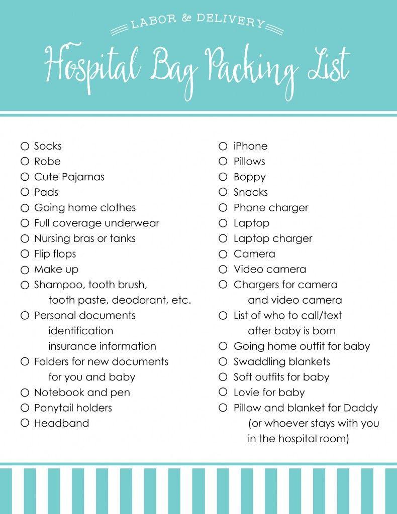 Hospital Bag Ng List For Mom Baby Blue Eyed Bride