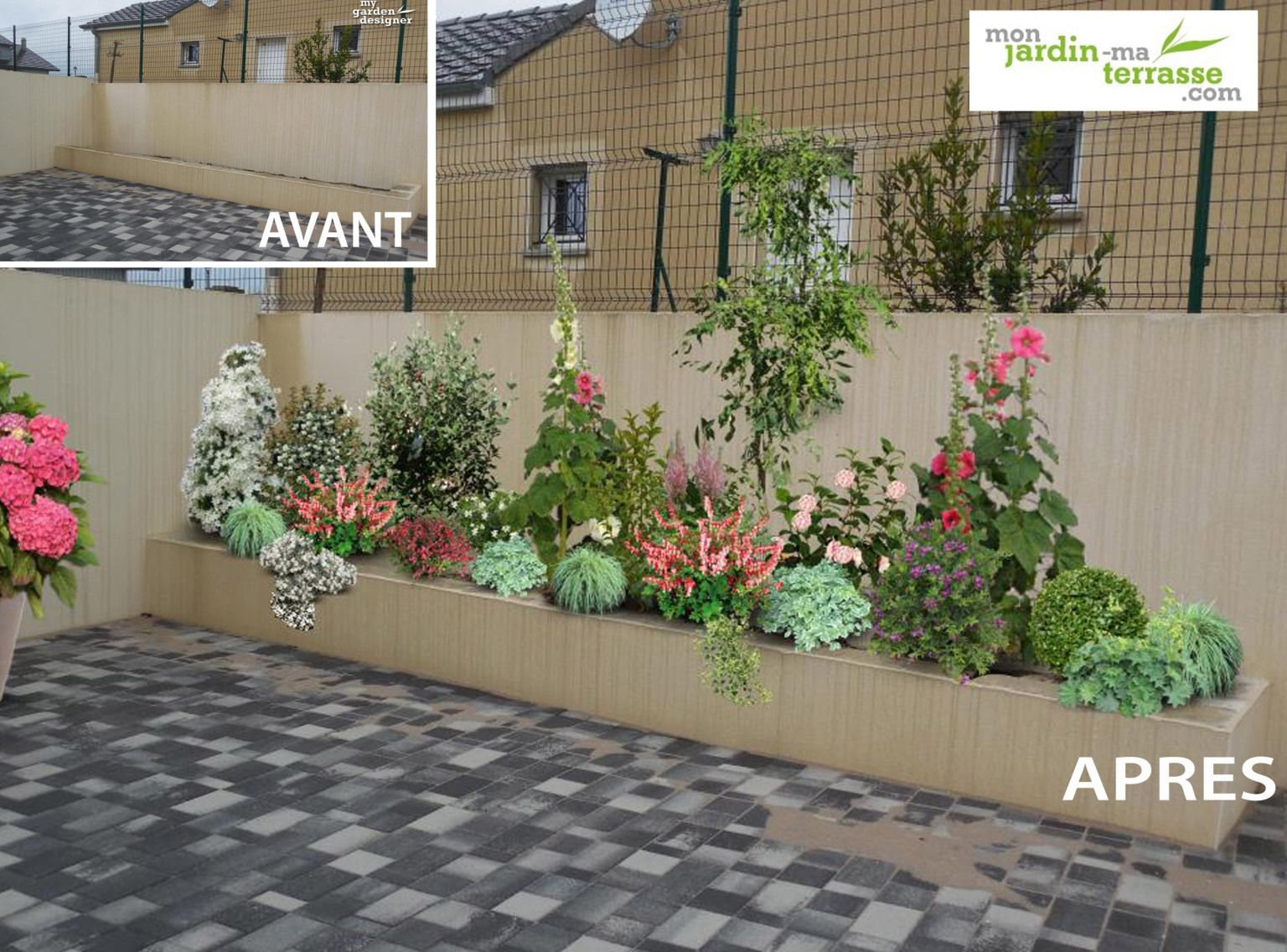 amenagement jardiniere terrasse terrasse balcon. Black Bedroom Furniture Sets. Home Design Ideas