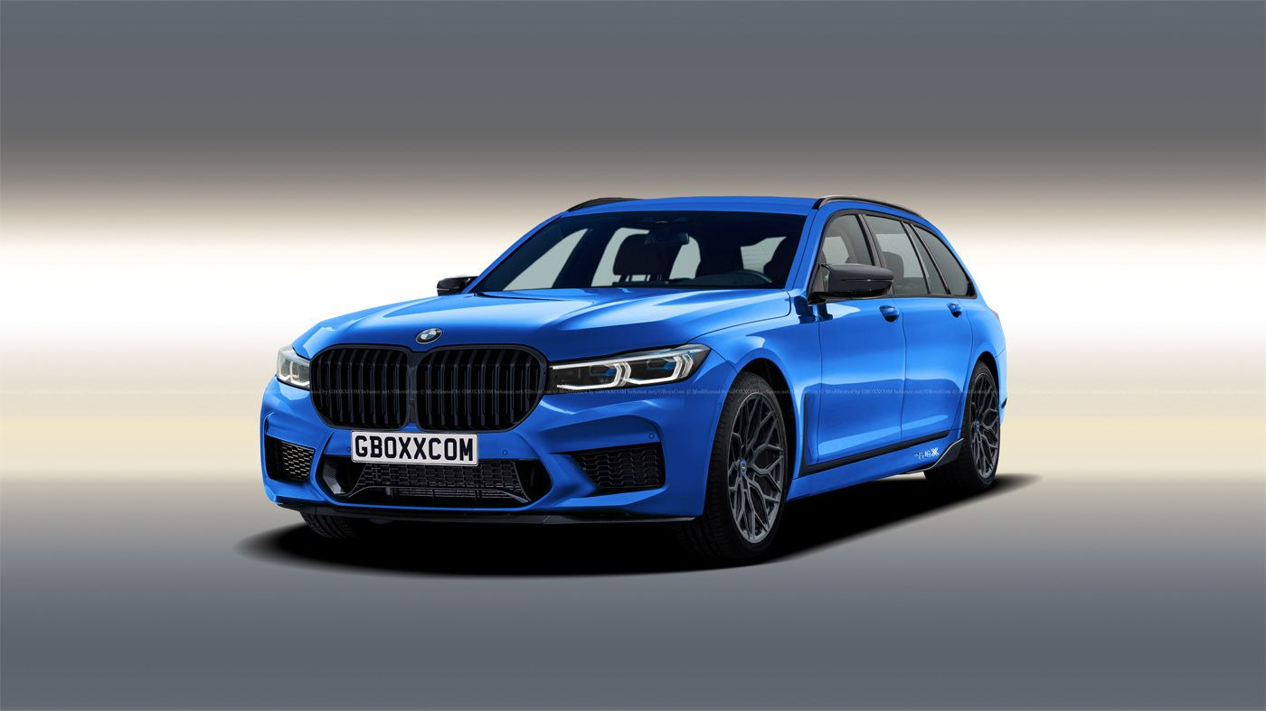 Bmw 7 Series Lci Rendered In M7 Touring Guise Remains Distant