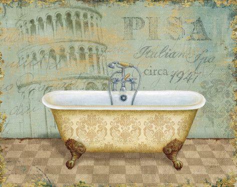 Voyage Romantique Bath II Posters by Daphne Brissonnet at ...