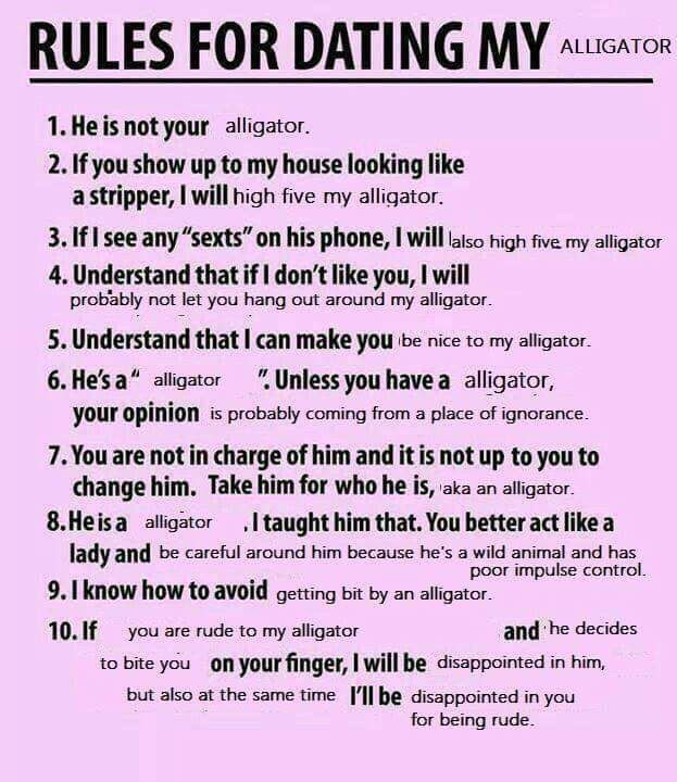 Rules for dating my alligator original