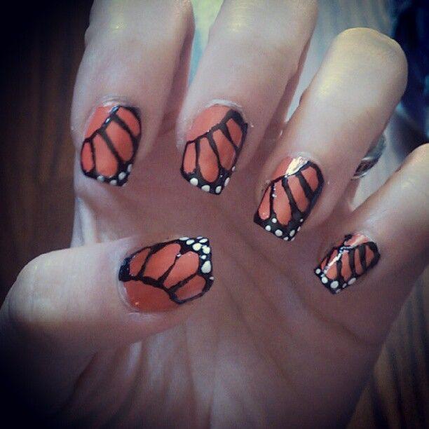 butterfly nailart :)