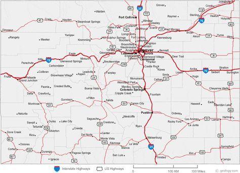 map of Colorado cities | Colorado | Colorado city, Colorado, Visit ...