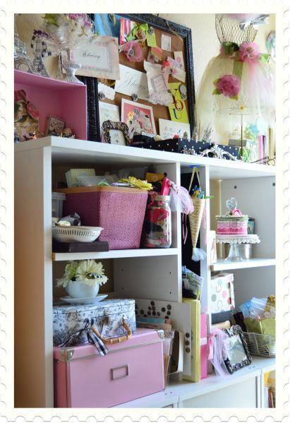 A cute and whimsical studio.   A Fanciful Life: Where Bloggers Create 2011