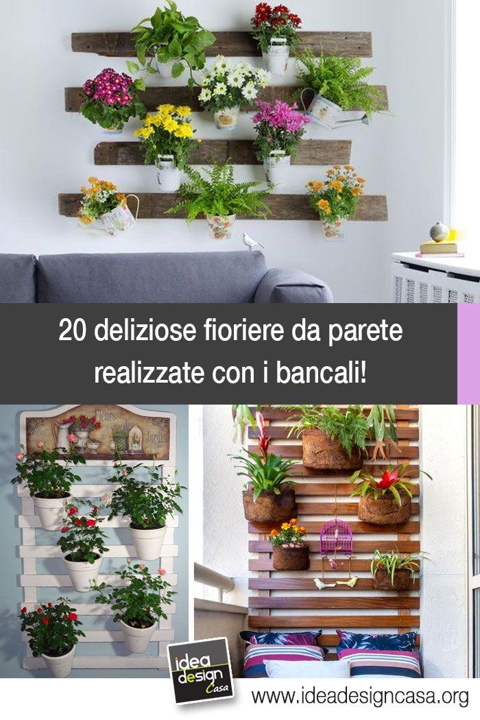 Fioriere da parete fai da te con bancali 20 esempi per for Idee per realizzare una fioriera