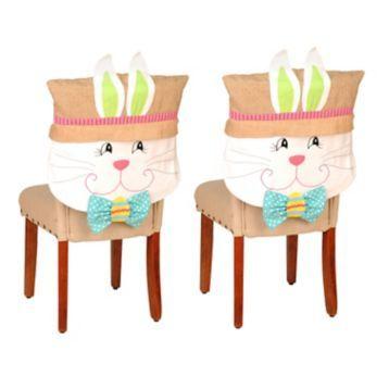 Brilliant Product Details Easter Bunny Boy Chair Covers Set Of 2 Spiritservingveterans Wood Chair Design Ideas Spiritservingveteransorg