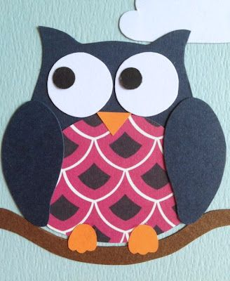 Great Owl Card with free template! | Owls | Owl patterns ...