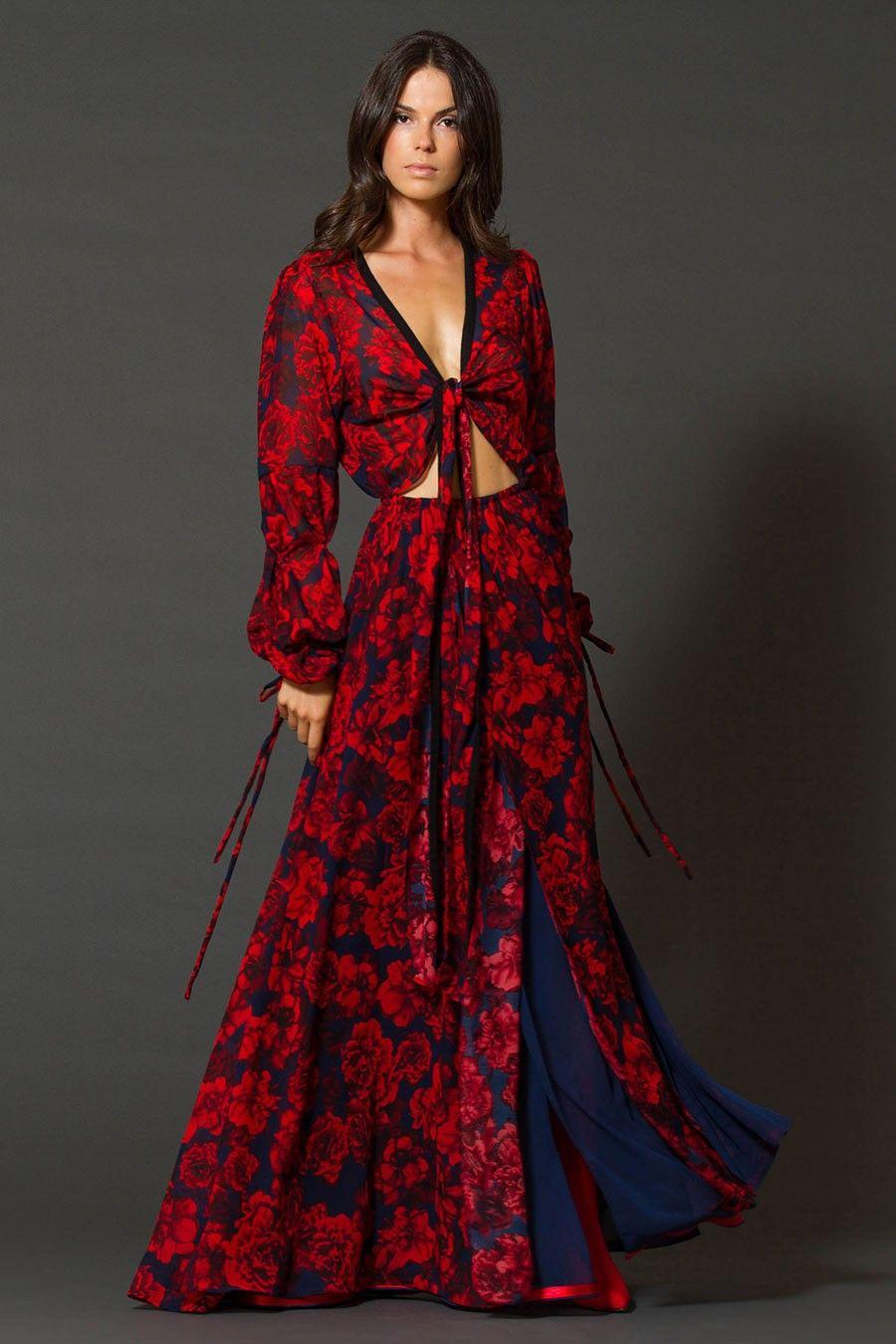 ad54198582f6 Εμπριμέ Φόρεμα Κρουαζέ Σιφόν όλο διπλό. Κοκτέιλ Φόρεμα για κάθε περίσταση.  Κρουαζέ στο στήθος