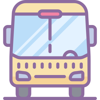 Bus Icons In Cute Color Style For Graphic Design And User Interfaces Iphone Icon Apple Icon Ios App Icon