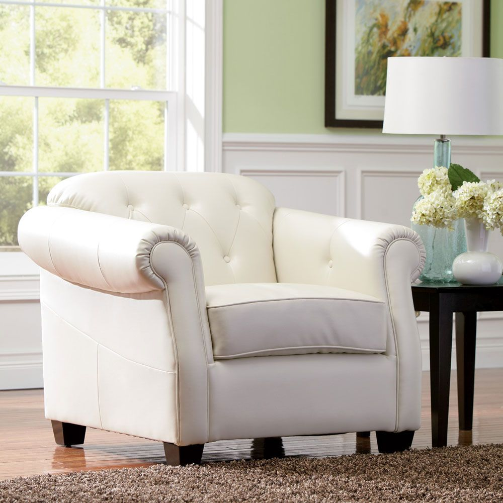 Exceptional Check Out The Coaster Furniture 502553 Kristyna Bonded Leather Upholstered  Chair In White. Living Room ...