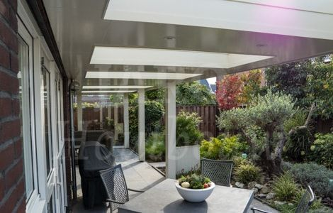 Jarohoutbouw  design veranda eigentijds