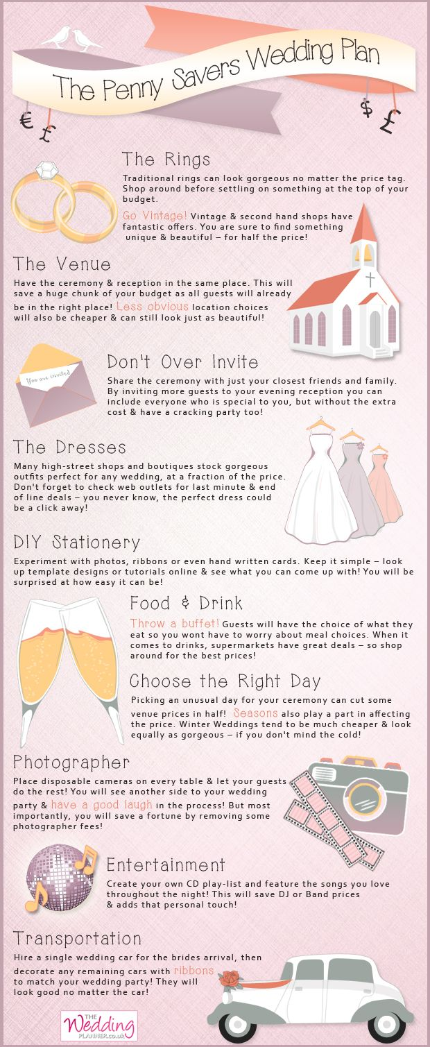 Infographic The Penny Savers Wedding Plan A Handy Guide On How