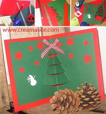 Diy Carte Sapin Noel Pop Up Diy Pop Up Christmas Card