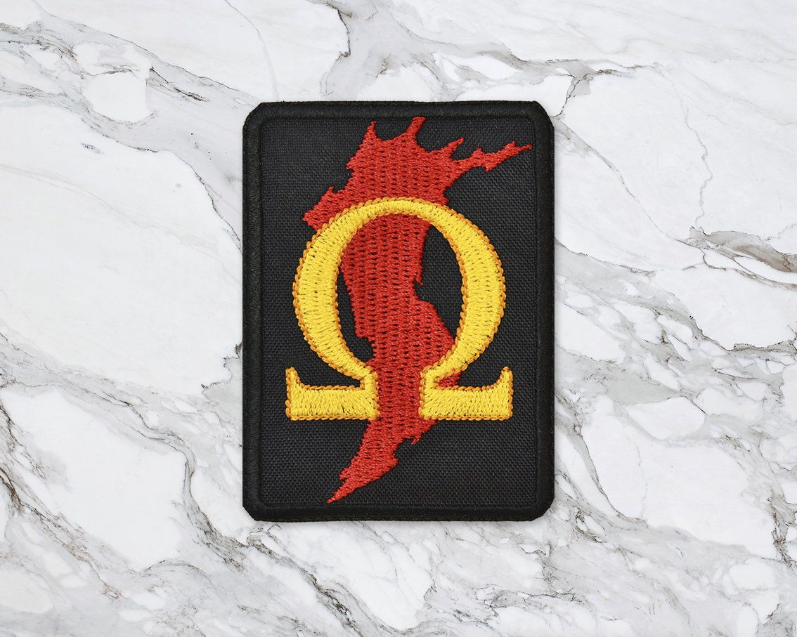 God Of War Kratos Omega Blade Of Chaos Iron On Embroidered Patch