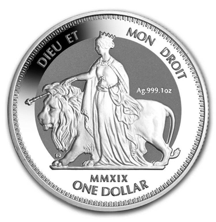 Collecters Item 2019 British Virgin Islands Una The Lion 1 Oz Silver Frosted Bu Coin British Virgin Islands Silver Bullion Coins