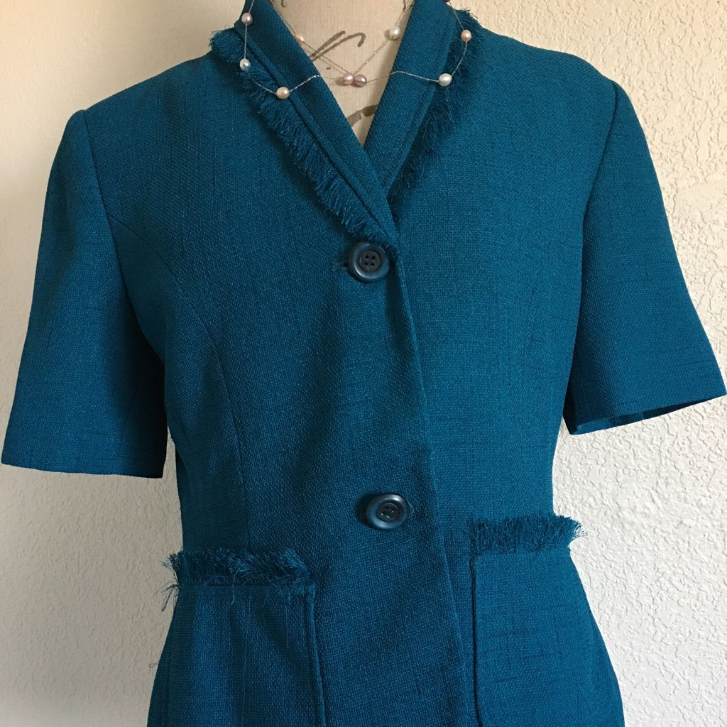 Short Sleeve Blue Blazer