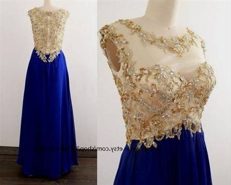 Royal Blue And Gold Wedding Dresses