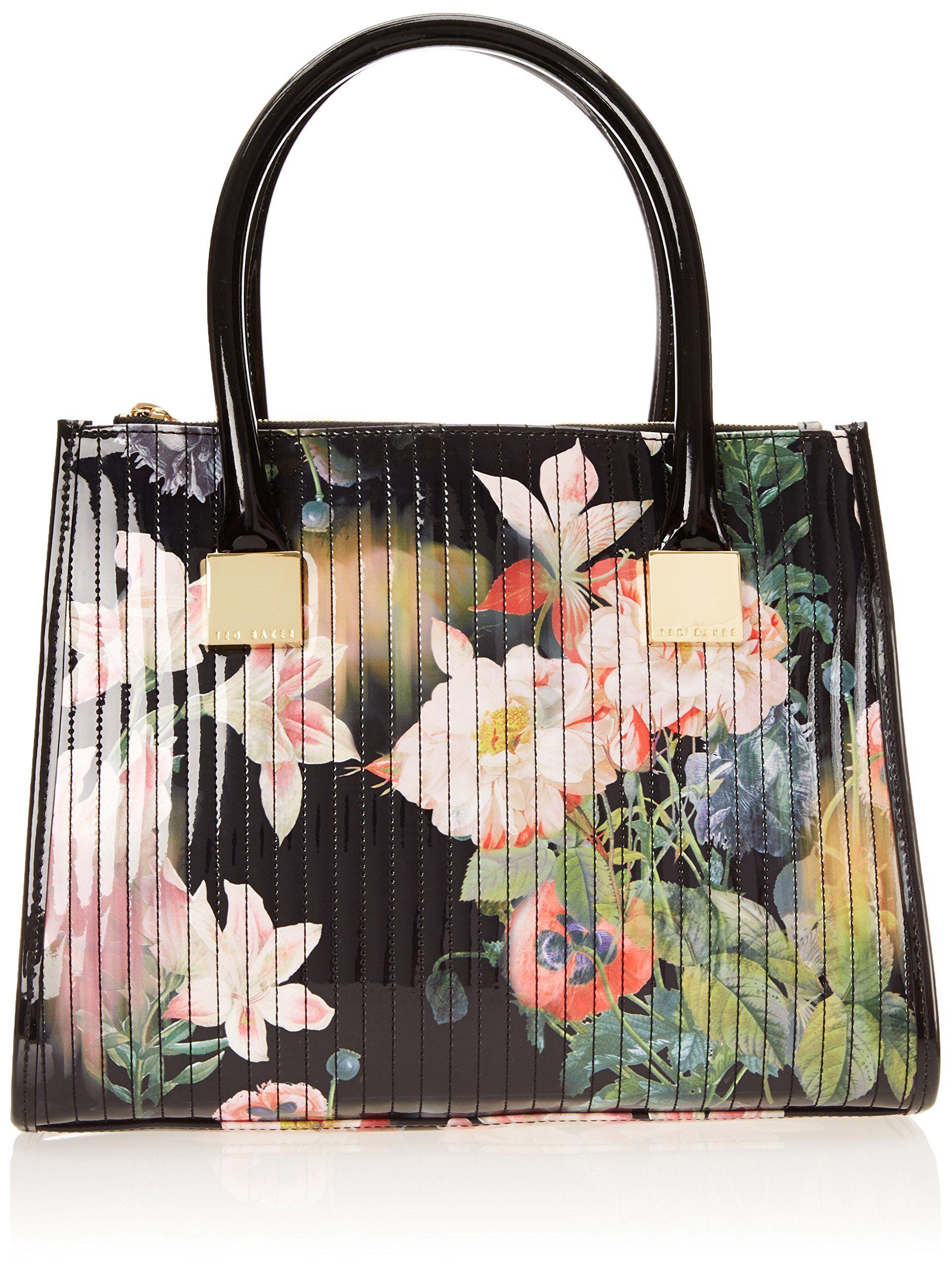 090b6bb4088 Ted Baker Opulent Bloom Print Tote,Black,One Size Ladies Bag $270.00 ...