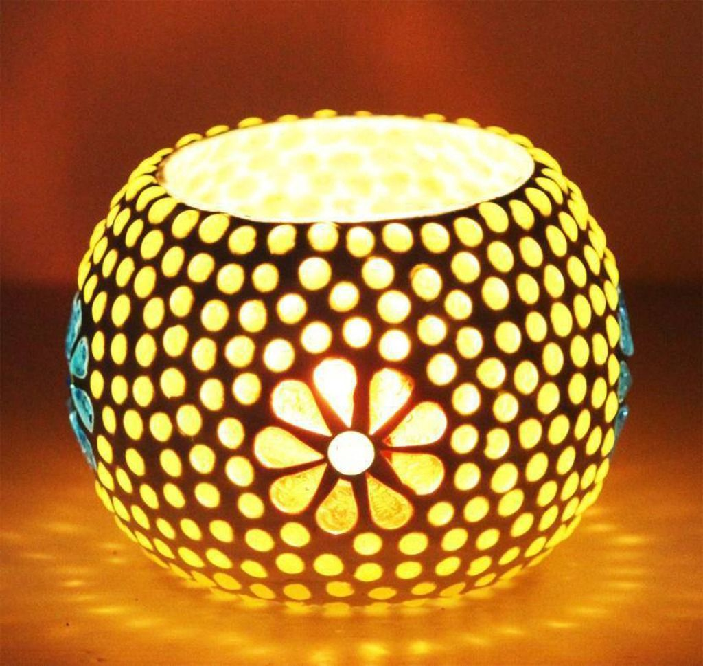 Decorative Lights for Diwali Handmade mosaic, Table top