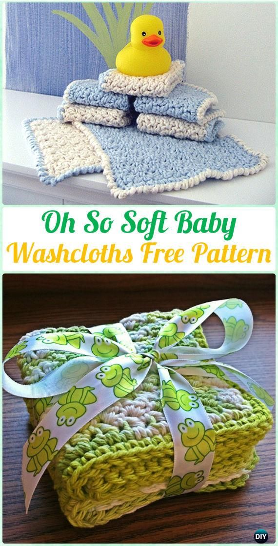 Crochet Oh So Soft Baby Washcloths Free Pattern Crochet Spa Gift