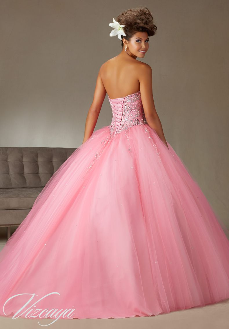 5187d68bc2 Quinceanera Dress Vizcaya Morilee 89062 Tulle Ballgown Beading Colors   Coral