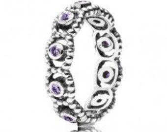7229e503e New Authentic Pandora Purple Stone Ring 925 Ale   Pandora   Pandora ...