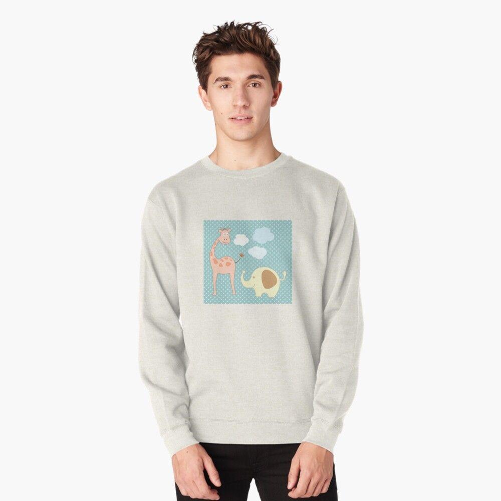 Funny African Animals Pullover Sweatshirt By Danikavt Sweatshirts Sweatshirt Designs Long Sleeve Tshirt Men [ 1000 x 1000 Pixel ]