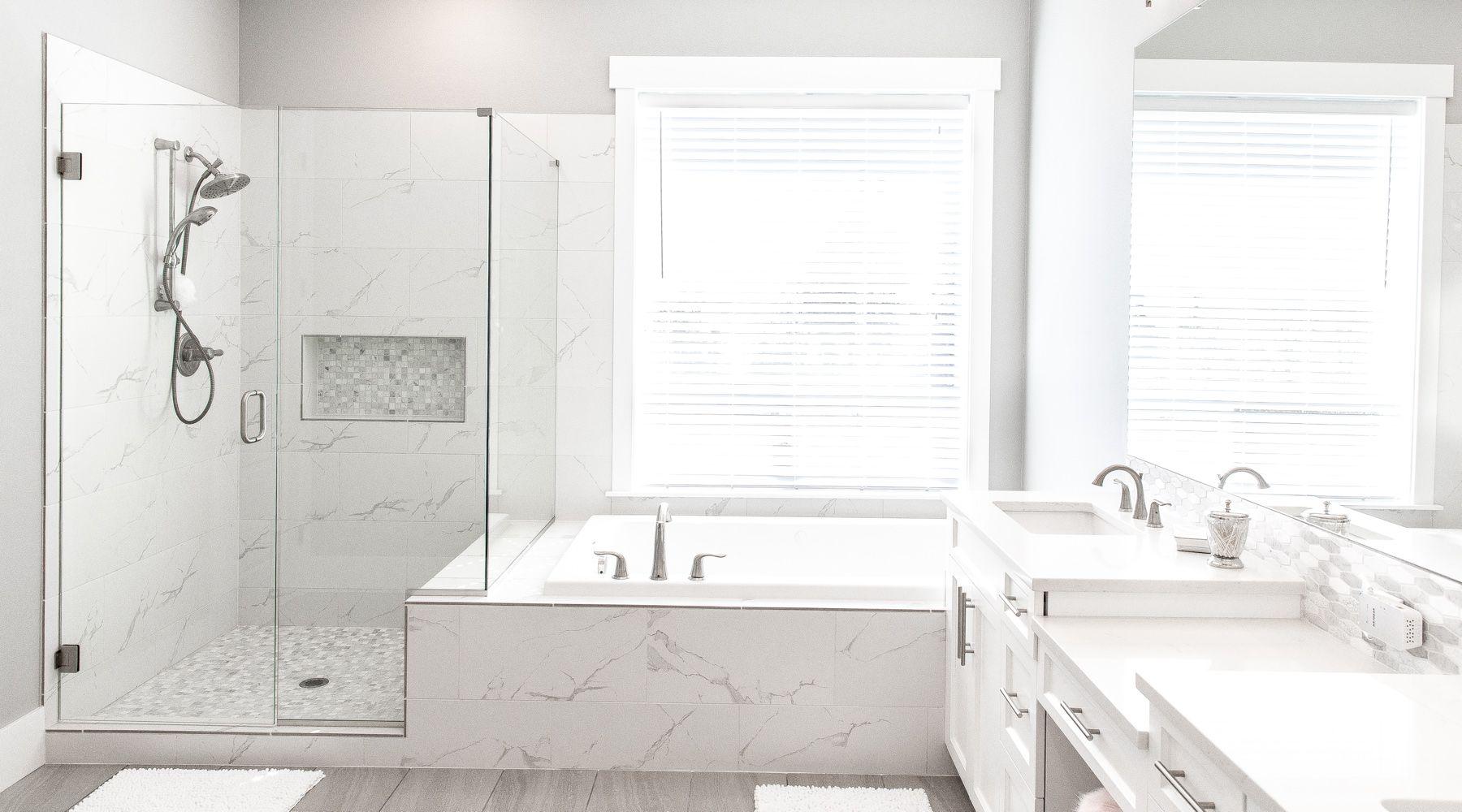 Modern house by NW Elite homes white master bathroom | Bathrooms ...