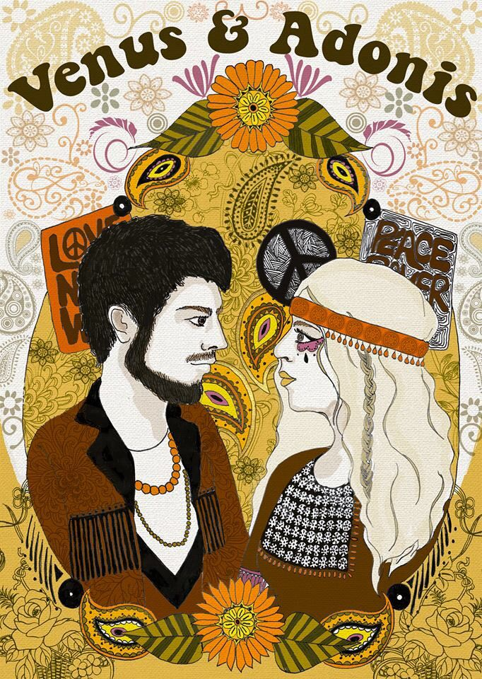 Venus & Adonis Illustration for City Wall Productions