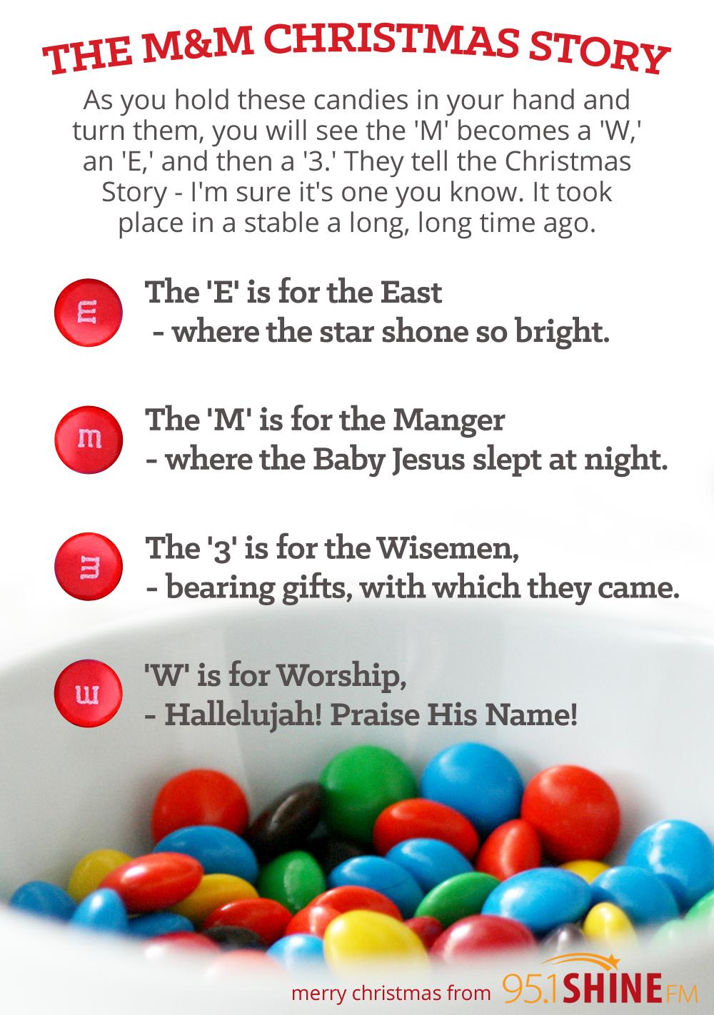 95.1 SHINE-FM: M&M Christmas Story // free printable (attach to a ...