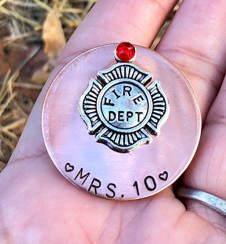 Firefighter pin firefighter wife gift custom firefighter