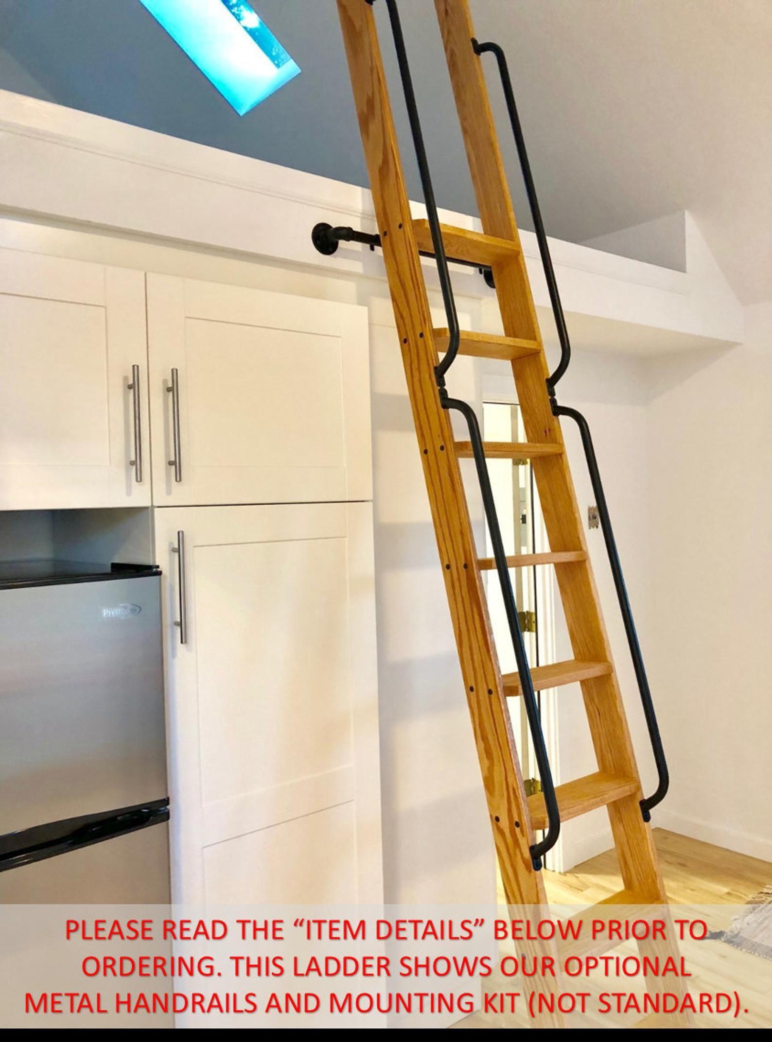 Wood Ladder, Loft Ladder, Library Ladder: Made to Order!