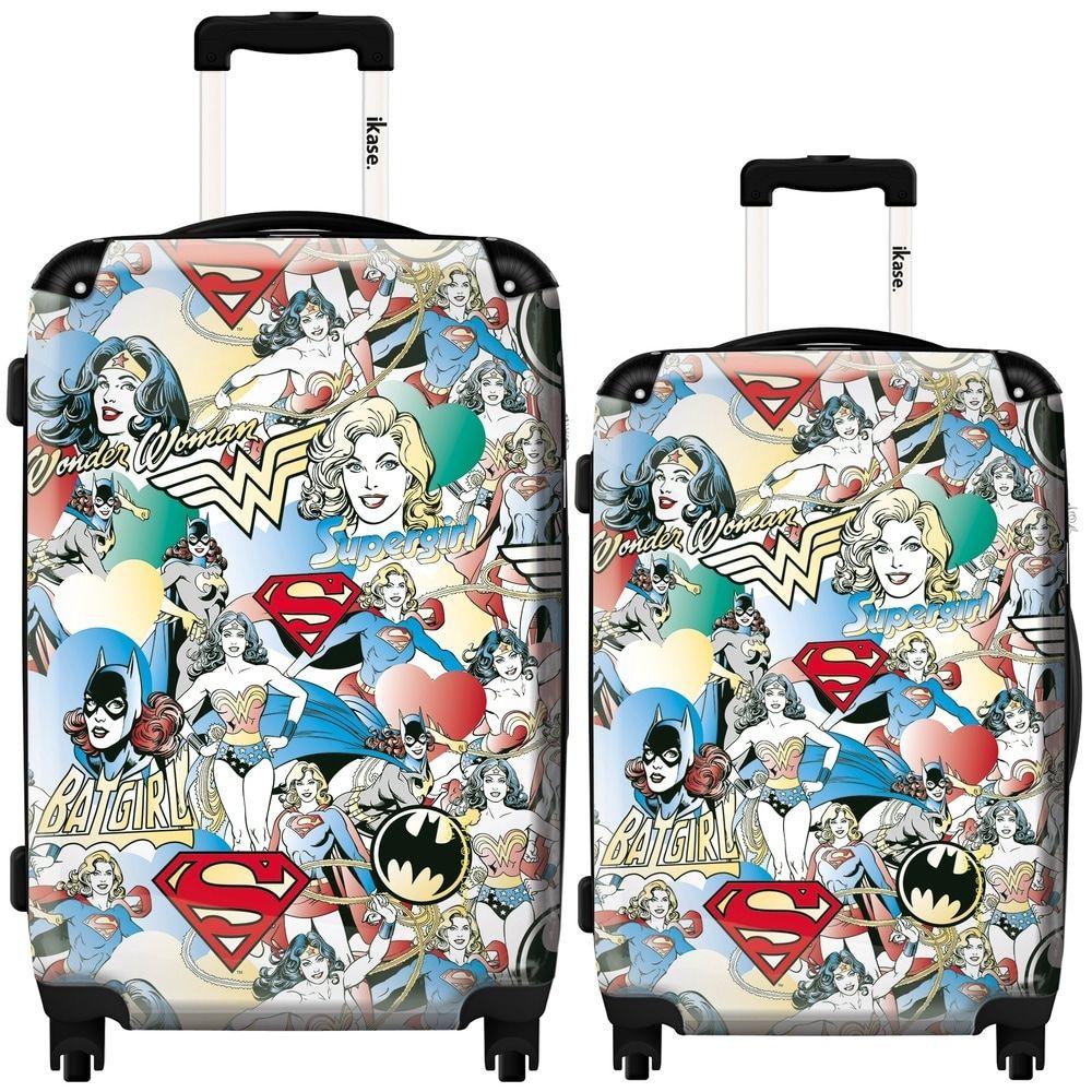 iKase 'Girl Superheroes' 2piece Fashion Harside Spinner