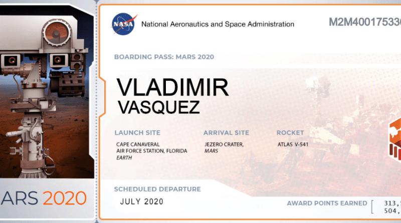 Envía tu Nombre a Marte Nombres, Nasa y Sistema solar