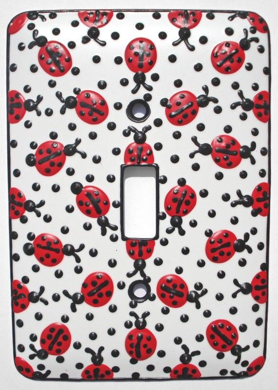 I NEED THIS!!!! Little Ladybugs Switchplate  by LauraStirrett, $14.00