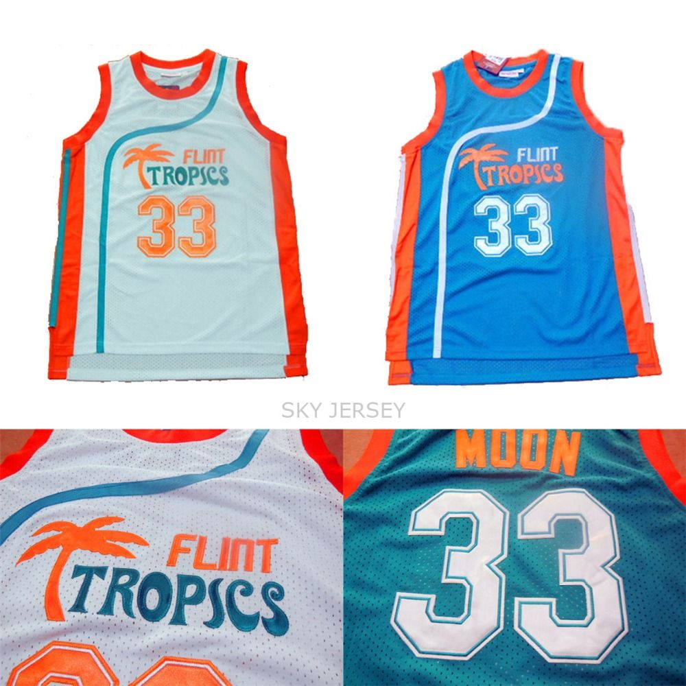 Aliexpress.com   Buy Jackie Moon Flint Tropics Semi Pro Movie Basketball  Jersey 9bfe75650